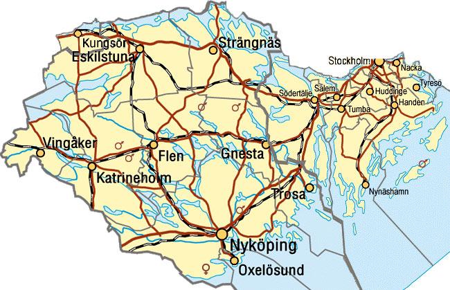 sörmland karta Digitalen: Södermanland sörmland karta